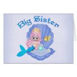 Mermaid Princess Big Sister Greeting Card