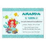 Mermaid Princess Birthday Invitation Under The Sea Custom Invites
