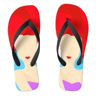 Mermaid princess flip flops