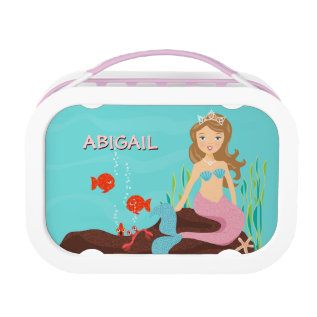 Mermaid Princess & Friends Personalized Lunch Box at Zazzle