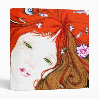 Mermaid Princess in Pop Art Style Binder