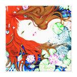Mermaid Princess in Pop Art Style Canvas Canvas Print