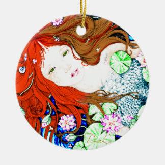 Mermaid Princess in Pop Art Style Ornament
