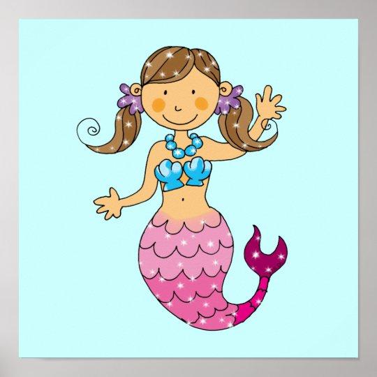 mermaid princess poster