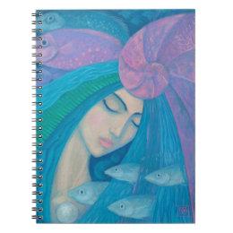 Mermaid Princess, Underwater Fantasy, Pink Blue Notebook