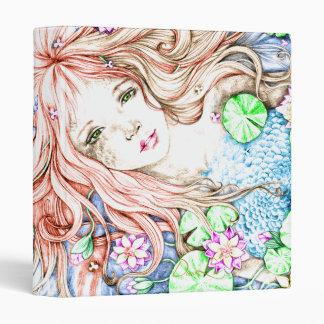 Mermaid Princess Watercolor Binder