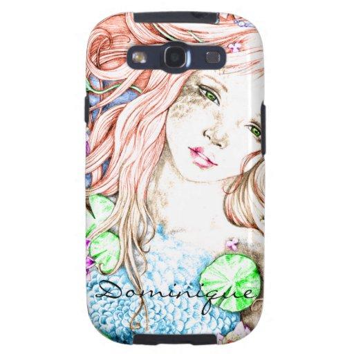 Mermaid Princess Watercolor Galaxy SIII Covers