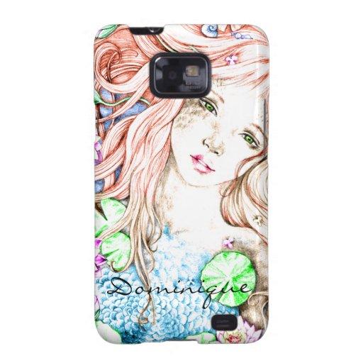 Mermaid Princess Watercolor Samsung Galaxy S Cases