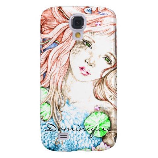 Mermaid Princess Watercolor Galaxy S4 Covers