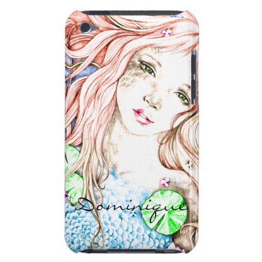 Mermaid Princess Watercolor Case-Mate iPod Touch Case