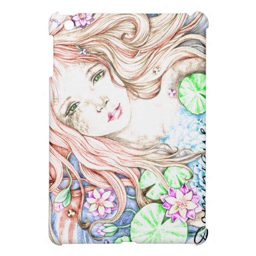 Mermaid Princess Watercolor iPad Mini Covers
