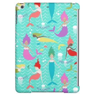 Mermaid Printed Ipod Air case in Teal/Multi iPad Air Case