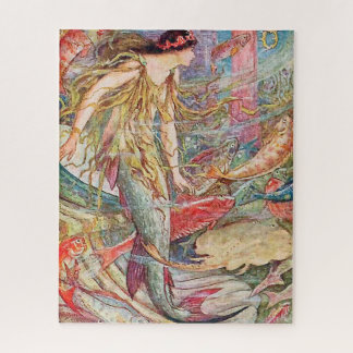 Mermaid Queen of the Fishes Jigsaw Puzzle