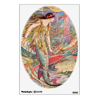 Mermaid Queen of the Fishes Wall Decal