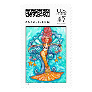 Mermaid Queen Postage