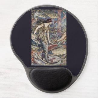 Mermaid Queen Vintage Fantasy Illustration Gel Mouse Pad