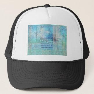 Mermaid quote vintage art trucker hat
