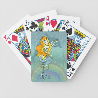 Mermaid Rainbow and Dolphin Illustration Design Bicycle Playing Cards