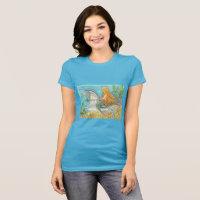 Mermaid Riding Merhorse Unicorn JERSEY T SHIRT
