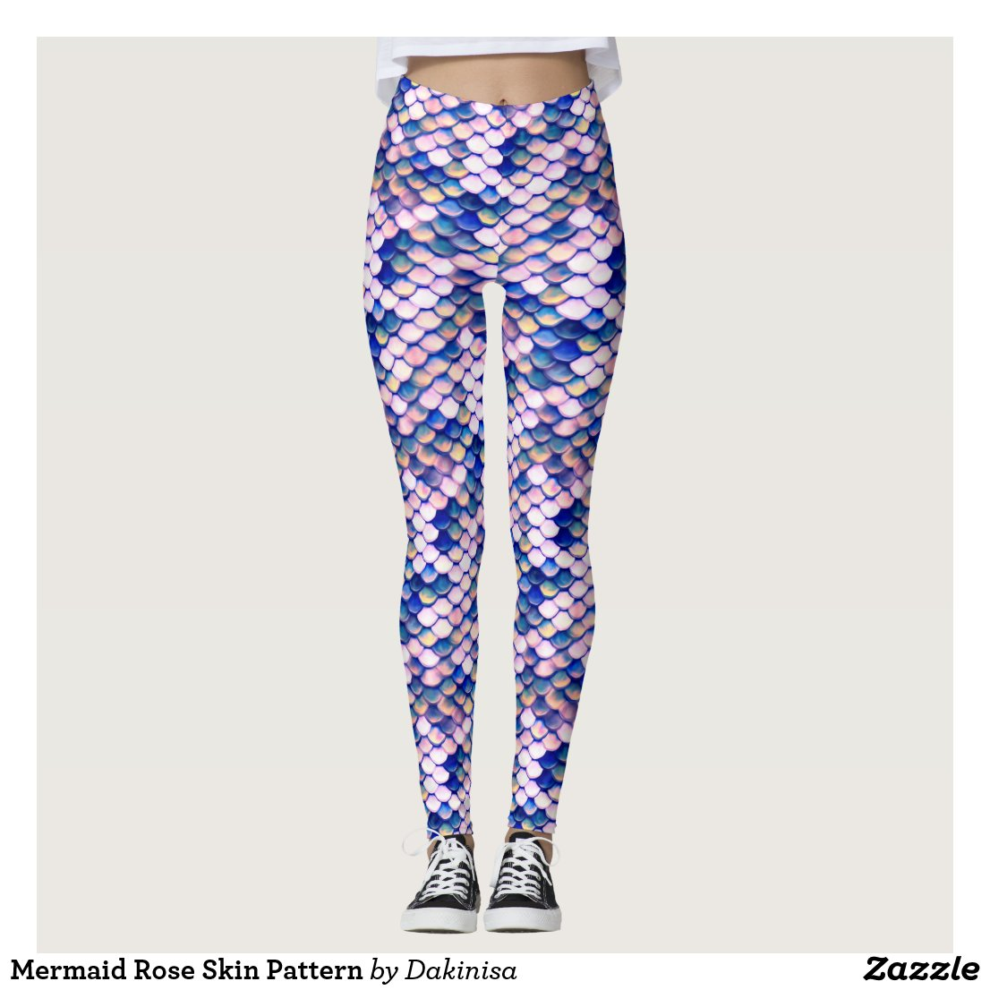 Mermaid Rose Skin Pattern Leggings