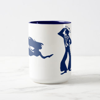Mermaid & Sailor Two-Tone Coffee Mug