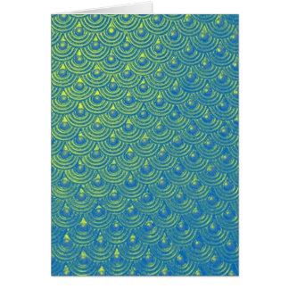 Mermaid scales card
