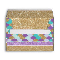 Mermaid Scales Envelope  Mermaid Birthday Invite