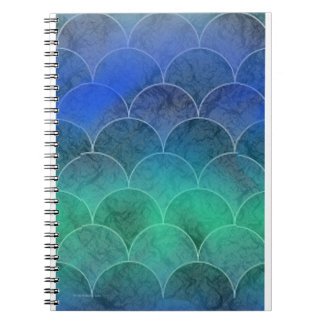 Mermaid Scales Spiral Note Books