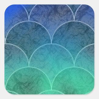 Mermaid Scales Square Sticker