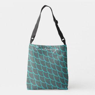 mermaid scales  Thunder_Cove blue/black Crossbody Bag