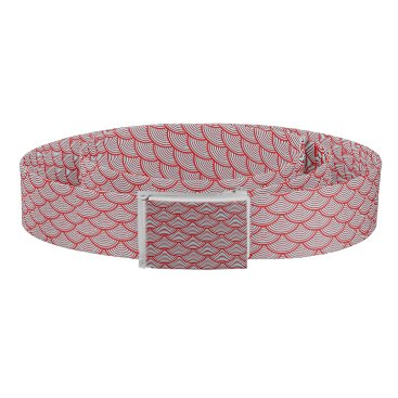 Beach Themed mermaid scales   Thunder_Cove red/grey Belt