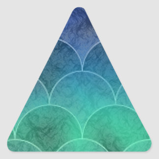 Mermaid Scales Triangle Sticker