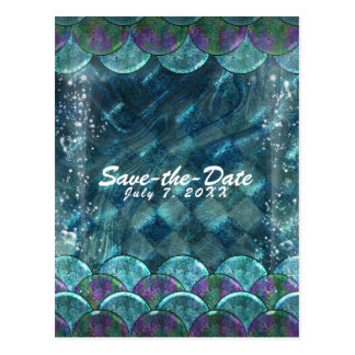 Mermaid Scales Under the Sea Party Save the Date Postcard
