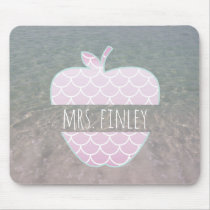 Mermaid Scales Water Apple Personalized Teacher Mouse Pad