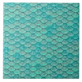 Mermaid Sea Geen Scales Tile
