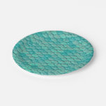 Mermaid Sea Green Scales Paper Plate