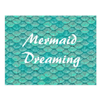 Mermaid Sea Green Scales Postcard