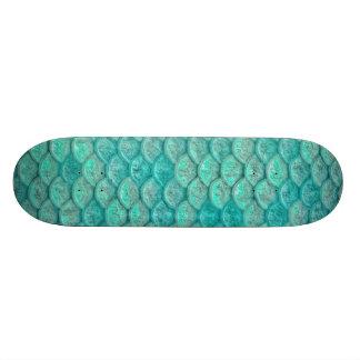 Mermaid Sea Green Scales Skateboard