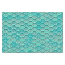 Mermaid Sea Green Scales Tissue Paper