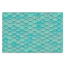 Mermaid Sea Green Scales Tissue Paper