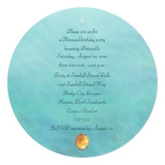 Mermaid Sea Queen Fia Birthday Party Celebration Card