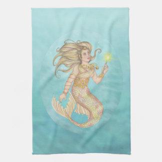 Mermaid Sea Queen Fia Fantasy Kitchen Towel