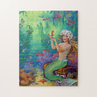 Mermaid, Seahorse, and Octopus Jigsaw Puzzle