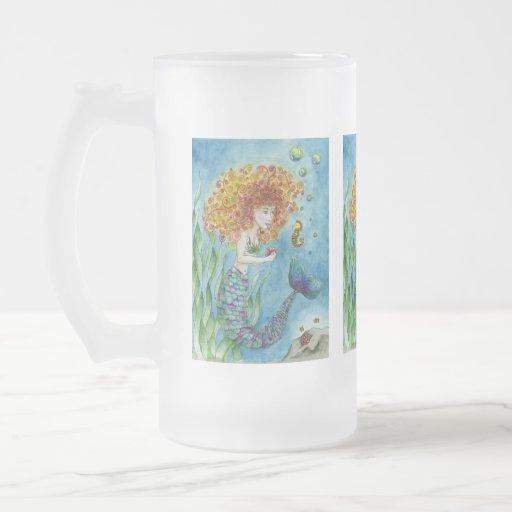 Mermaid - Seahorse  Extra Large Mug