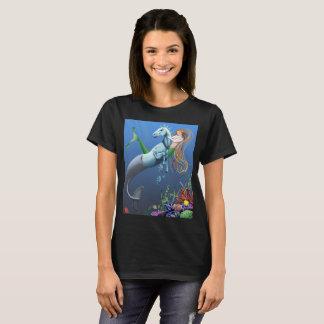 Mermaid Seahorse Fantasy Illustration shirt