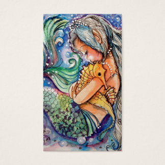 Mermaid & Seahorse Hugs.. Business Card