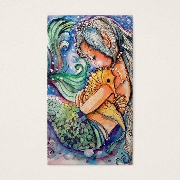 Professional Business Mermaid & Seahorse Hugs.. Business Card