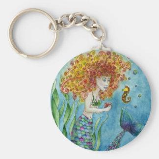 Mermaid - Seahorse Keychain