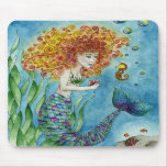 Mermaid - Seahorse Mousepad