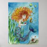 Mermaid - Seahorse Poster